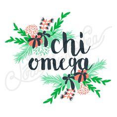 Sorority Recruitment Chi Omega Floral Leaves South By Sea Sorority Shirt Designs, Tee Shirt Designs, Sorority Shirts, Tee Shirts, Sorority Recruitment Banners, Chi Omega Recruitment, Sorority Outfits, Sorority Life, Custom Clothing Design