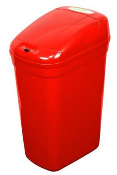 Amazon.com: NST Nine Stars DZT-27-1R Infrared Touchless Automatic Motion Sensor Lid Open Trash Can, Red, 7.1-Gallon: Home & Kitchen