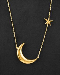 moon + star necklace.