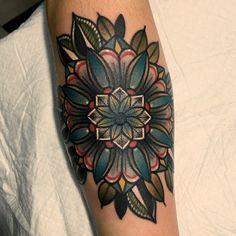 """""""_ 파랑파랑좋아하심 #mandala #tattoo  #traditionaltattoo"""""""