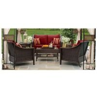 Target Home™ Rolston 4-Piece Wicker Patio Deep Seating Furniture Set - Red