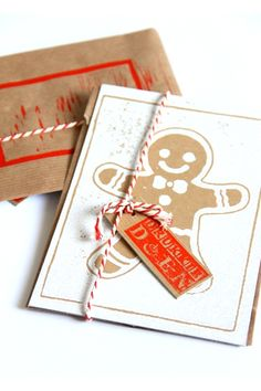 Hip gespot op Indie-ish: Dit jaar kun je unieke kerst kaarten versturen. Deze gingerbread man brengt bij iedereen een glimlach op het gezicht! De prachtige kaarten v...