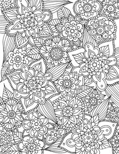 Free Printable Spring Flowers Coloring Page From Alisa Burke