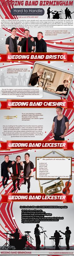 Booking a band for your wedding reception may be the only time in your life you actually hire a band, so it's vital that you know what makes a good wedding band. Click this site http://www.hardtohandleband.co.uk/weddingbandleicester.php for more information on Wedding Band Leicester. Follow Us: http://weddingbandbirmingham.wordpress.com