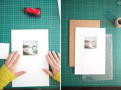 """matting and """"framing"""" your own pictures.  wish i had time to do this, but with kids, it's busy!"""