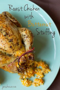 Roast Chicken with Butternut Stuffing