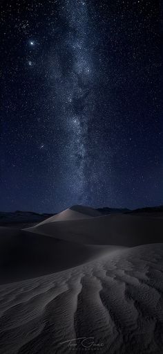 Summon... Death Valley sand dunes under a perfectly clear night sky