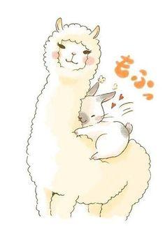 Llama and bunny.