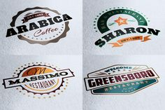 Check out 10 Retro Signs or Banners by Cruzine on Creative Market