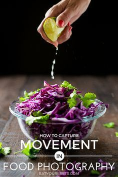 Food photography tips for beginners! Learn how to capture movement in food photography. Simple tools to help you achieve stunning shots!