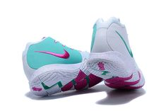 sneakers for cheap fce06 a7e9d 2018 Nike Kyrie 4 White Noble Red-Mint Green For Sale   Air Jordans 2018