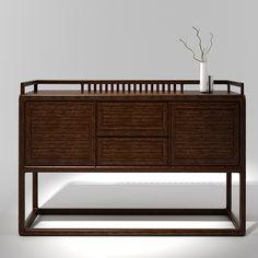 ¥3200.00 实木餐边柜储物柜 新中式茶水柜酒柜简约餐柜 实木家具组合橱柜-淘宝网