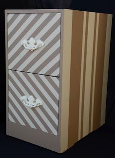 diy painted metal cabinets | Paint/Beautify your old metal filing cabinet @ Heart-2-HomeHeart-2 ...