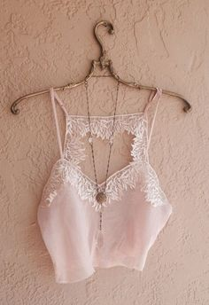Romantic sheer Nude pink vintage crop silk cami with by BohoAngels, $40.00 - Find 80+ Top Online Lingerie Stores via http://www.AmericasMall.com/categories/lingerie-underwear.html #lingerie #underwear #gifts - lingerie, costumes, pink, dress, honeymoon, school girl lingerie *ad