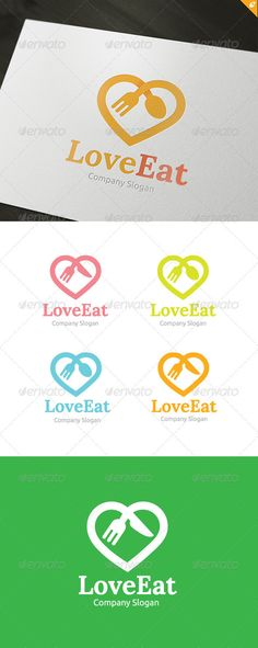 Love Food Logo  #GraphicRiver        Love Food – Logo Template This logo design for all any food and restaurant services business. Logo Template Features   EPS and AI file 300PPI  CMYK  100% Scalable Vector Files  Easy to edit color / text  Ready to print  font information in the help file 	 If you buy and like this logo, please remember to rate it. Thanks!     Created: 10January13 GraphicsFilesIncluded: VectorEPS #AIIllustrator Layered: No MinimumAdobeCSVersion: CS4 Resolution: 590x1500…