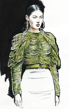 New fashion sketches face behance Ideas New Fashion, Fashion Art, Fashion Models, Paper Fashion, Fashion Designers, Fashion Boots, Fashion Design Sketchbook, Fashion Sketches, Balmain Sweater
