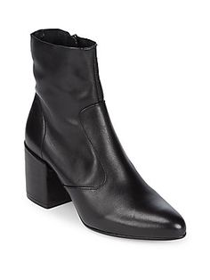 Saks Fifth Avenue Zip Leather Booties