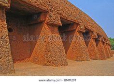 Nigeria, Jos, Traditional mud brick house, hausa architecture Stock Photo