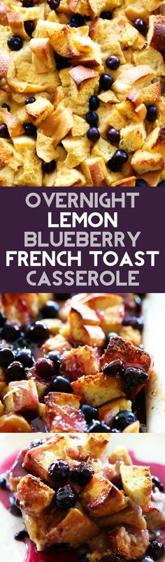 This Overnight Lemon Blueberry French Toast Casserole is a delicious breakfast where all the prep work is done the night before and ready to cook the next morning! It is perfect for feeding a crowd. It has a refreshing hint of lemon and is bursting with fresh blueberries.