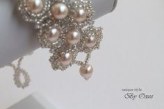 Tiny work)) bridal bracelet