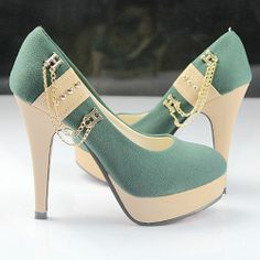 Fashion pointed toe 2013 spring ultra high heels platform chain nubuck leather high-heeled shoes single shoes women's shoes-ZZKKO