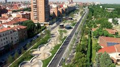 Parque lineal del Manzanares, en Madrid