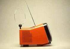 R.Sapper's Algol portable TV set 3rd edition (first designed with Marco Zanuso), Brionvega, 1985: