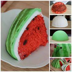 karpuz seklinde pasta yapimi