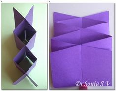Card Making Tutorials, Card Making Techniques, Fancy Fold Cards, Folded Cards, Pop Up, Cascading Card, Step Cards, Shaped Cards, 3d Cards