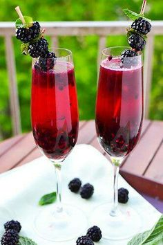 Black berry Champagne Margaritas