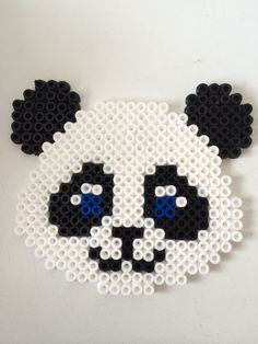 Panda hama perler beads by Louise Nielsen                                                                                                                                                                                 More