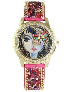 Graceful Rhinestone Butterfly Watch #hats, #watches, #belts, #fashion, #style