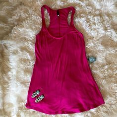 Anthropologie UK Pink cotton & Lycra tank NWOT Anthropologie UK Pink cotton & Lycra tank NWOT Anthropologie Tops Tank Tops