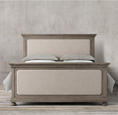 James Upholstered Bed With Footboard:Evoking The Architectural Classicism Of  Turn Of The Century Design, St. James Is Grand In Both Scale And Beauty.