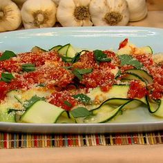 Clinton and Carla's Fresh Tomato Sauce with Zucchini Papardelle: This tasty dish is a great way to use all the zucchini you got at the local farmer's market.