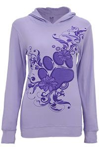$18 today only!! Purple Paw Thermal Hoodie at The Animal Rescue Site  Funds 28 bowls of food!