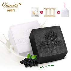 2017 goat milk&bamboo charcoal handmade soap cleanser oil control whitening TONY MOLY Free Shipping