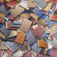 "Saatchi Online Artist Andrea Mancini; Painting, ""#1494 Books"" #art"