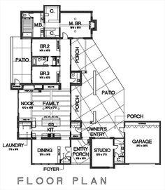 House Plan 449-15 studio = massage studio space! Cha ching!
