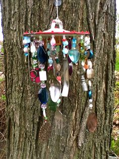 This one was fun to make! Vintage Keys Funky Chic Windchime by malindadickens on Etsy, $38.00