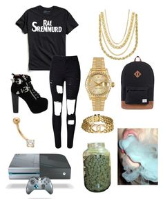 """""""Untitled #131"""" by tejadac on Polyvore featuring Urban Outfitters, WithChic, Jeffrey Campbell, Lord & Taylor, Bianca Pratt, Chanel, Rolex and Herschel Supply Co."""