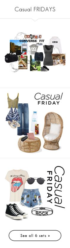 """""""Casual FRIDAYS"""" by missamandapmoss ❤ liked on Polyvore featuring Topshop, Converse, West Elm, T By Alexander Wang, WithChic, The North Face, Closed, Kenzo, La Blanca and Ports 1961"""