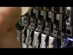 Oiling felt pads on needle bars for Brother PR600 - YouTube