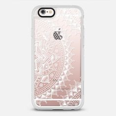 Pretty Lace Mandala Flowers - protective iPhone 6 phone case in Clear and Clear by Laurel Mae | @casetify