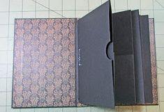 Scraps of Life: Mini Album Makers October Challenge Diy Paper, Paper Crafts, Album Maker, Diy Crafts For Girls, Accordion Fold, Mini Album Tutorial, Circle Punch, Handmade Books, Graphic 45