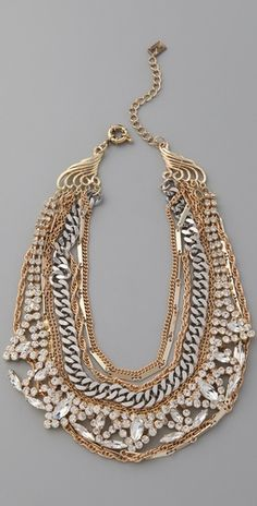 Juliet & Company Mirage Necklace - gorgeous take on a bib for spring, loving the mixed metals