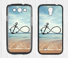 Infinity Anchor Samsung Galaxy S3 S4 Case,Refuse to Sink Blue Ocean Beach Galaxy S3 S4 Hard Rubber Case,cover skin Case for Galaxy S3 S4 on Etsy, $7.99