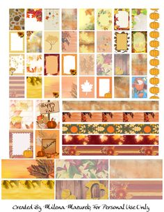 Free Printable Fall Planner Stickers from Sweet Lemons