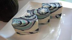 Flower pattern Cold Process Handmade soap