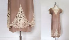 1920s Dress / CUTWORK Lace Flapper Dress / S by GuermantesVintage, $400.00